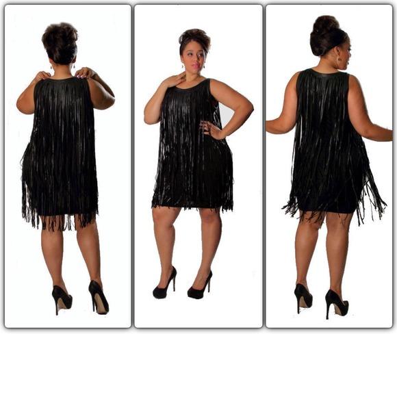 Plus size long Tassel Dress- 1X NWT