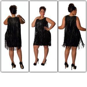 Plus fringe dress