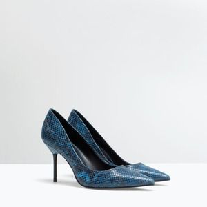 Zara Printed Court Shoes size 6.5