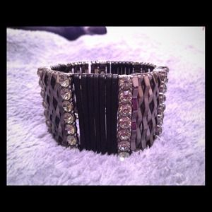 Bedazzled bracelet with Swarovski crystals