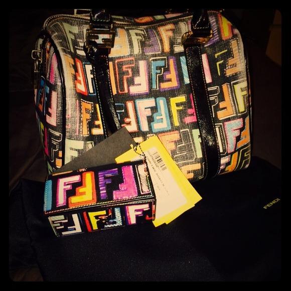2dc8f9d29d9d FENDI Handbags - Authentic Fendi Multicolor Zucca Boston Tote Bag