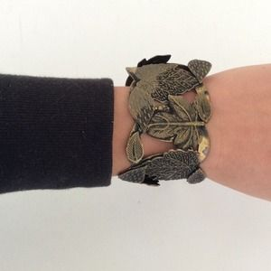 House of Harlow leaf cuff bracelet