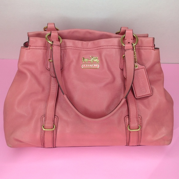 77% off Coach Handbags - Pink Coach Leather Purse from Anna's ...