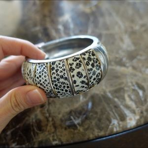 Animal print cuff bracelet
