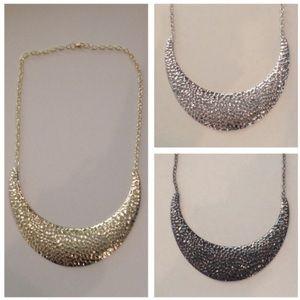 Jewelry - Hammered Metal Bib Necklace