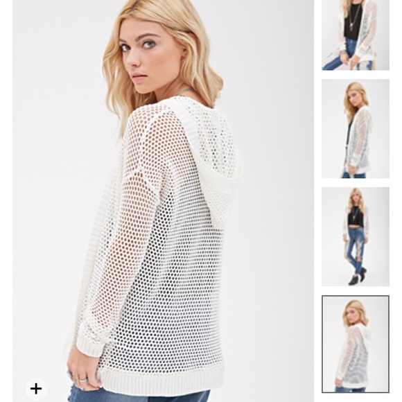 25% off Brandy Melville Sweaters - Open knit hooded cardigan from ...