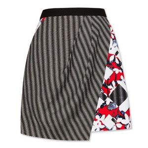 Peter Pilotto Skirt in Red Floral/Check Print