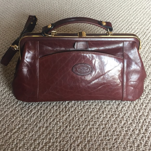 Oroton Brown Leather Doctors Bag 5a069c4723bcf