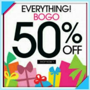 BOGO half off EVERYTHING is included in this sale!