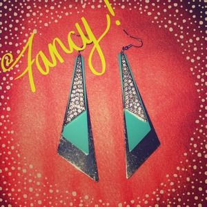 Mint & Gold Layered Earrings