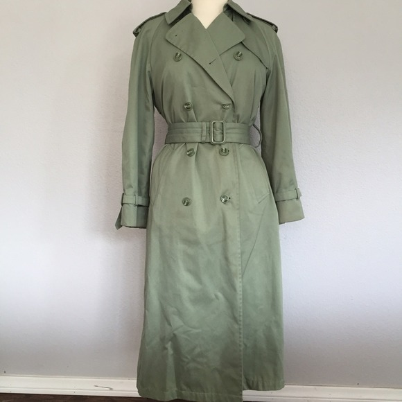 Spring Green Colored Trench Raincoat
