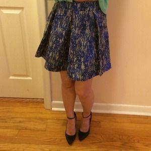 AEROPOSTALE blue shimmery pleated skirt short