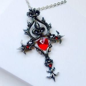 Floor-Model. Fleurs-de-lys - Passion Cross Pendant