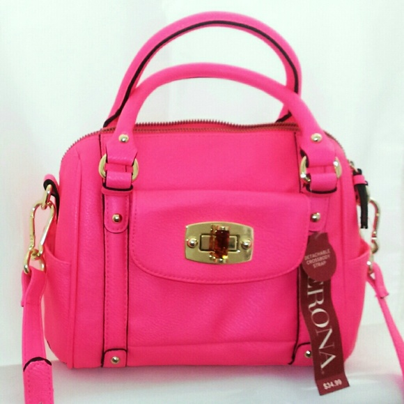 34% off Merona Handbags - 👉SALE Pink mini satchel from ! catie's ...