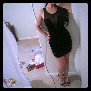 Blaque label mesh bandage dress