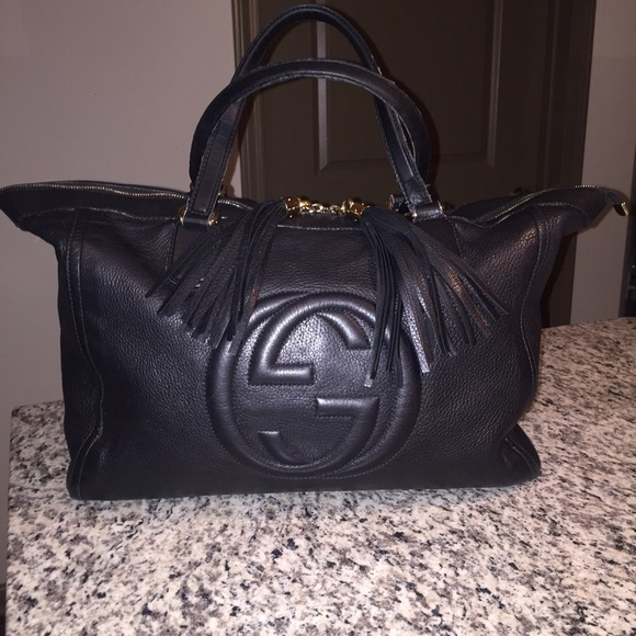 47c3d6719 Gucci Bags | Sold Authentic Leather Large Soho Tote | Poshmark