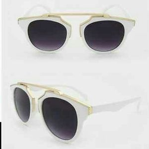 Stylish White Frame Sunglasses