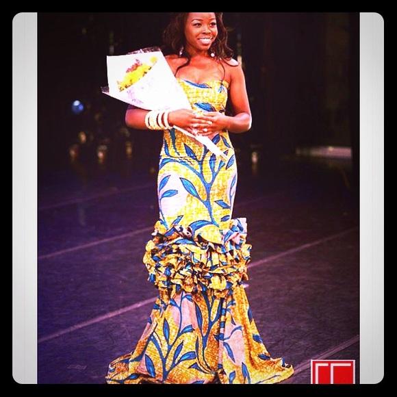 Dresses | Ankara African Print Evening Gown Prom Dress | Poshmark