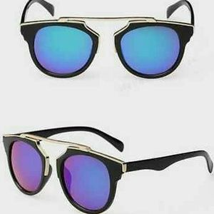 Black Frame/ Blue Lenses Sunglasses