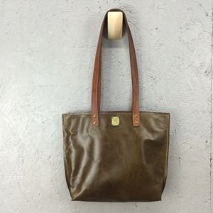Freddy Handbags - Olive green leather tote.  Handmade!