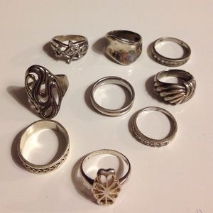 All Sterling silver rings!!