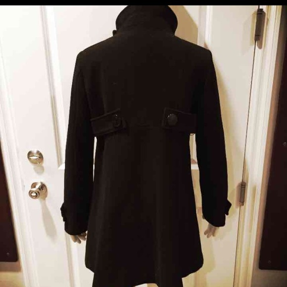 bebe - Bebe Black Wool Winter Peacoat Jacket M from