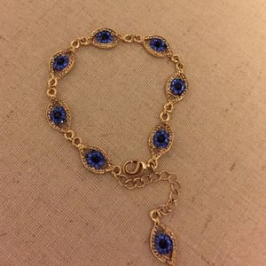 Jewelry - Gold Evil Eye Charm Bracelet