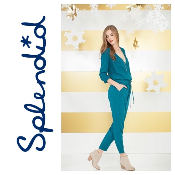 075183caba35 Splendid rayon voile jumpsuit in deep teal! NWT