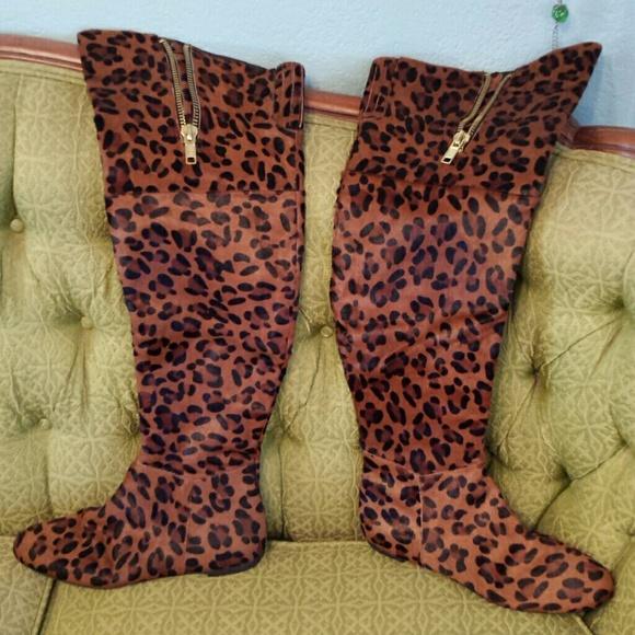 36% off Sam Edelman Boots - Sam edelman leopard over knee boots ...