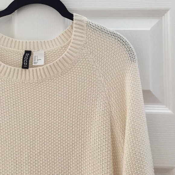 H&M - H&M oversized knit sweater - cream from Teresa's closet on ...