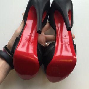 Christian Louboutin Shoes - SOLD Christian Louboutin Black Knot Heels