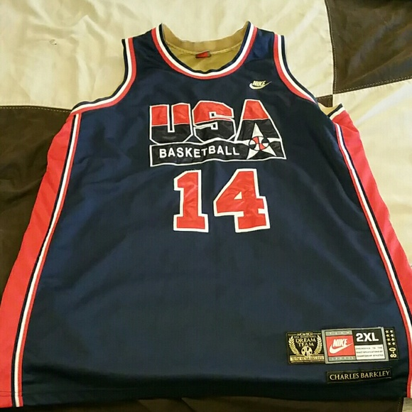 reputable site 40912 cc3ae NIKE AUTHENTIC BARKLEY USA DREAM TEAM JERSEY