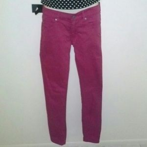 Cheap Monday Pants - 💀💖Cheap Monday 26 wine pink skinny jeans jeggin