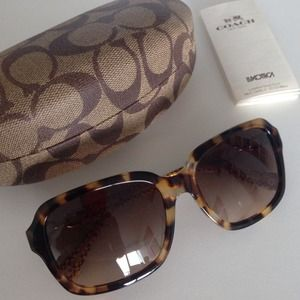 Authentic Coach sunglasses. Tortoise