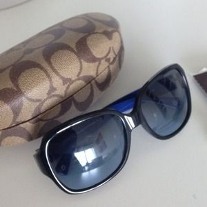 Coach Accessories - Authentic Coach sunglasses- black with blue inside