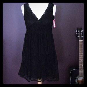Xhilaration black lace v neck dress