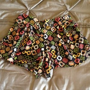 High Waisted Tribal Shorts