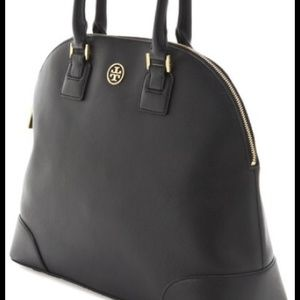 TORY BURCH Blk Robinson Dome Satchel, Ret$650