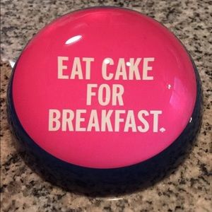 Kate spade eat cake for breakfast paperweight