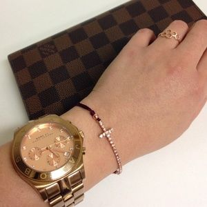 Jewelry - fashion cross rose gold bracelet