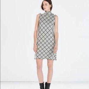 Zara jacquard dress in BLACK