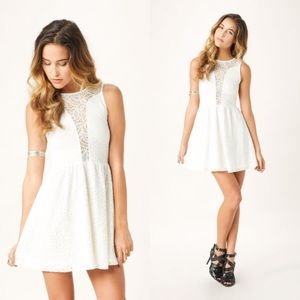 For love and lemons white lace lulu dress