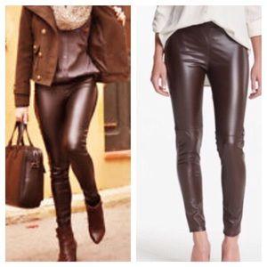Leather Leggings Brown