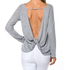 Tops - Open Back Twist Top