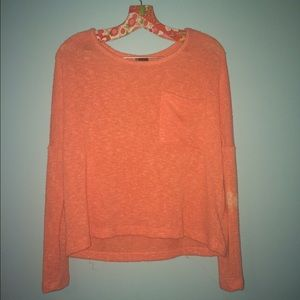 UO Sparkle & Fade coral sweater