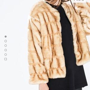 Zara Fur Jacket size Medium