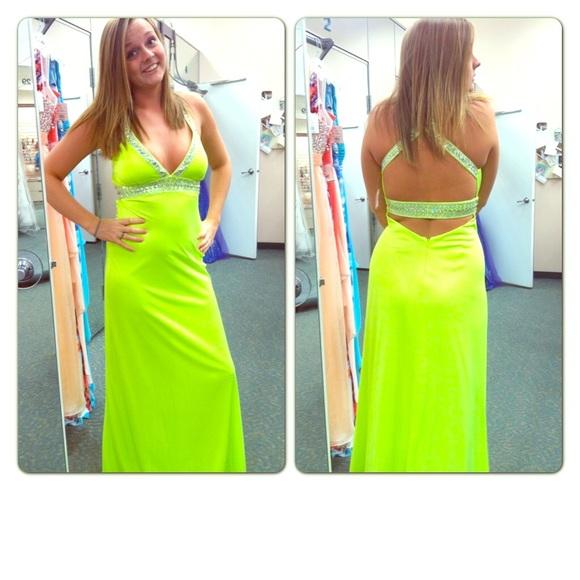 Dresses Lime Green Formal Dress Poshmark
