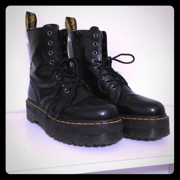 Dr. Martens Boots - Dr. Martens Black Leather Jadon Boot 20ac4e3604