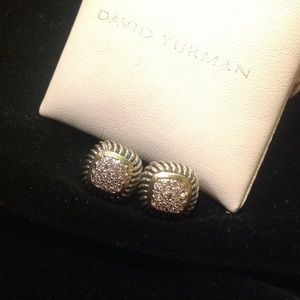Authentic David Yurman Diamond Albion Earrings