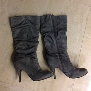 Gray Charlotte Russe boots